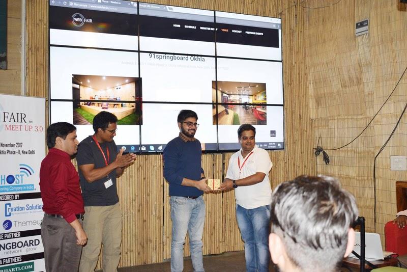 Ankit Singla web fair meetup prize